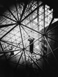 Architect Buckminster Fuller Explaining Principles of Dymaxion Building