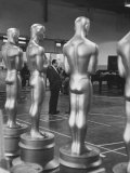 Large Replicas of Oscars Used for Decoration at Academy Awards Show