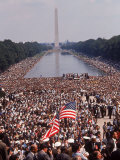 Crowd of over 200 000 Gathered Where Martin Luther King Delivered &quot;I Have a Dream&quot; Speech