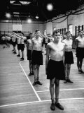 Undressed Recruits Begining their Physical Training at Aterham Gym