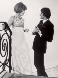 Fashion Designer Yves Saint Laurent Talking with Client Mrs Stanley Donen at His Boutique