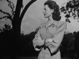 Deborah Kerr Standing in the Garden of Her Home