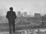 British Politician and Labor Party Leader Aneurin Bevan Surveying the Largest Steel Works in Europe