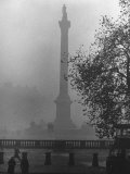 Foggy View of Trafalgar Square