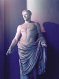 Statue of Emperor Caesar Augustus Semi-Nude and Draped in Toga
