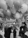 Man Selling Balloons at Dwight D Eisenhower's Inauguration