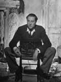 "Director Carol Reed Sitting on the Set of His Movie ""Odd Man Out"""