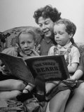 Actress Wendy Hiller Reading a Story to Her Children
