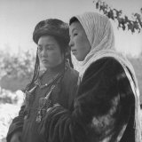 Close-Up of Two Girls from Nomad Families