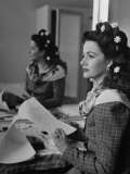 "Actress Margaret Lockwood in Her Dressing Room on the Set of ""Hungry Hill"""