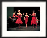 Four Models in Red Dresses Dancing Charleston For Article Featuring &quot;The Little Red Dress&quot;