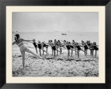 Girls of the Children's School of Modern Dancing  Rehearsing on the Beach