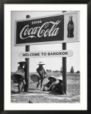 "Billboard Advertising Coca Cola at Outskirts of Bangkok with Welcoming Sign ""Welcome to Bangkok"""