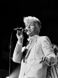 Musician David Bowie Singing on Stage