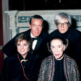 Actress Singer Liza Minnelli and Choreographer Martha Graham with Designer Halston and Andy Warhol
