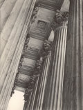 View of Columns and Carved Ceiling on the Portico of the Supreme Court Building
