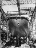 Ocean Liner America in Shipyard Prior to Launch