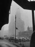 Surrounding the City in Fog  with City Hall and Woolworth Building in Background