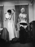 Ex-Burlesque Stripper June St Clair Undressing  During Class at Allen Gilbert School of Undressing