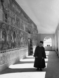 Brother Speridon Standing in the Monastery of St Jovan Bigorski