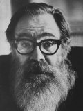 Portrait of Poet John Berryman with Full Beard