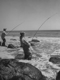 Two Men Fishing Off Montauk Point