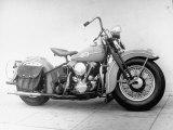 Harley-Davidson Racing Motorcycle Papier Photo par Loomis Dean