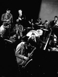 Count Basie at Piano  Lester Young on Sax  Dizzy Gellespie  Mezzrow on Clarinet  Gjon Mili's Studio