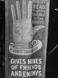 Sign Guaranteed Life Read from Cradle to the Grave with Hand Chart Drawing  Greenbrier Valley Fair