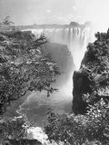 View of Victoria Falls on the Zambesi River