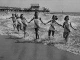 Miss America Candidates Playing in Surf During Contest Period