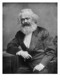 Portrait of German-Born Political Economist and Socialist Karl Marx  1818-1883