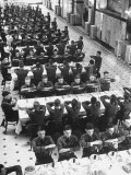 Students in Mess Hall at Culver Military Academy Holding Arms Crossed in Front of Them