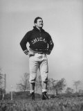 Sid Luckman of Chicago Bears Exercising before Practice