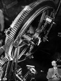 Astronomer Dr Walter S Adams Adjusting 100-Inch Telescope  Mt Wilson Observatory