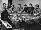 Burlap Landscape Being Sewed by WVS Ladies for Use by Royal Air Force to Instruct Flyers