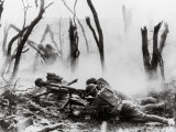 American Soldiers of 23rd Inf Firing 37mm Machine Gun at German Positions  Argonne Forest  WWI