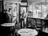 Quartet of Men Gathered in a Local Drug Store in the Hometown of President Franklin D Roosevelt