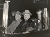 Newly Re-elected Pres Franklin Roosevelt with VP Harry Truman Ride to the White House to Celebrate