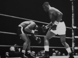 Floyd Patterson  and Sonny Liston During Liston-Patterson Heavyweight Title Bout