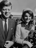 President John F Kennedy and Wife Arriving at Airport