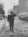 Mayor Richard J Daley Walking Through the City