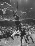 Basketball Player Wilt Chamberlain During Game Against the Celtics