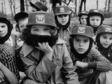 Kids Wearing Fidel Castro Caps and Beards