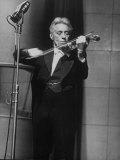 Fritz Kreisler  Austrian-Born Violinist and Composer  Playing Violin During Broadcast at NBC Studio