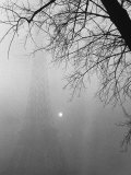 Paris Fog with Eiffel Tower Faintly Seen