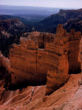 Trail of Tourists Hiking Though Rock Formations of Bryce Canyon