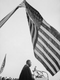 Reverend Martin Luther King Jr Speaking at Prayer Pilgrimage for Freedom at Lincoln Memorial