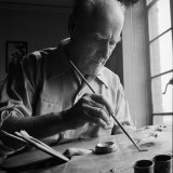 Artist Lyonel Feininger at Work