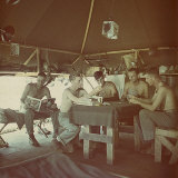 US Marine Camp on Pacific Islands
